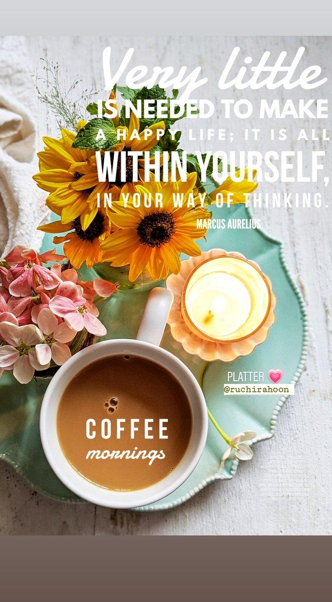 Inspired mornings ... That platter @ruchirahoon 💗💗💗. Thank you #shotwithpixel3xl #phonephotography #coffeemornings #lovecoffee #madewithkitchenaid #gurgaondiaries #coffee #inspiration #coffeequotes #motivation #morningslikethese @GoogleIndia @madebygoogle #marcusaurelius https://t.co/YX57N6NVvA