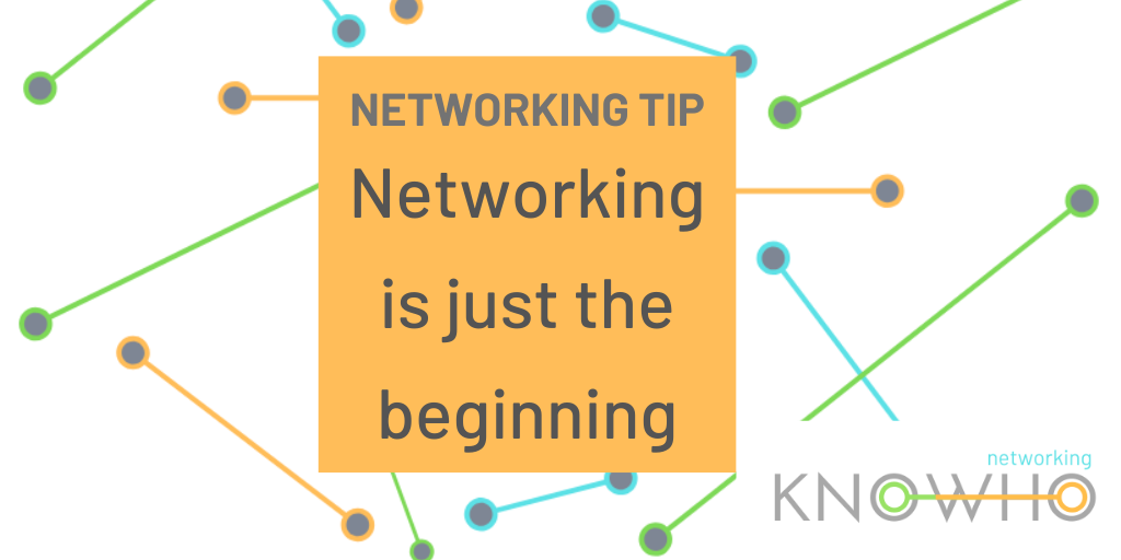 Meeting new people at #networking events is only the beginning!   Make sure to continue the conversations through social media or one-to-one's after the event - relationships take time, and so do referrals.   #NetworkingTips #TopTips #BusinessNetworking https://t.co/1HQDSQOczR