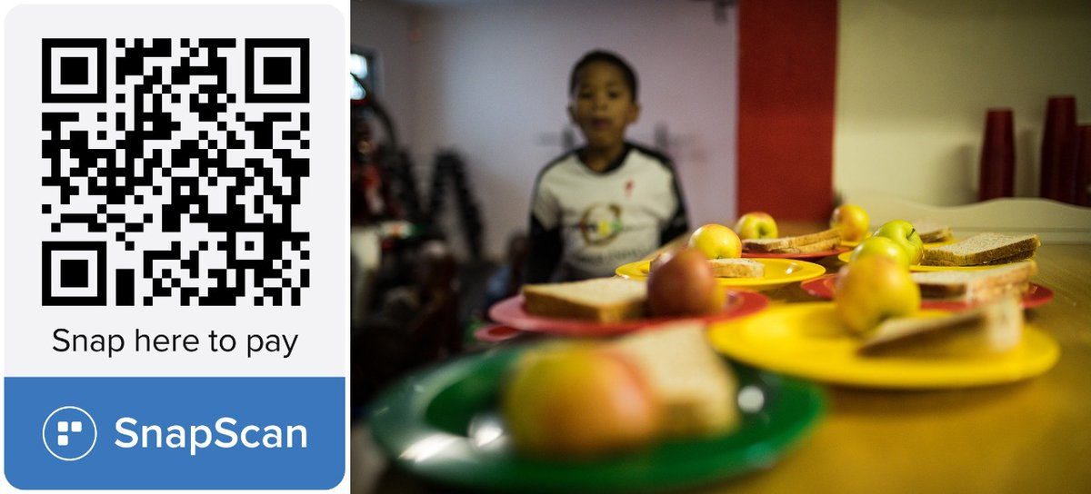 As the icy & wet weather continues in the Western Cape wed like to remind you of our lunch programme. Wed love to give the kids hot soup on the cold days. Please consider donating via @SnapScanApp or @GivenGain. SS: pos.snapscan.io/qr/PXMP45257 GG: givengain.com/cc/change-the-…