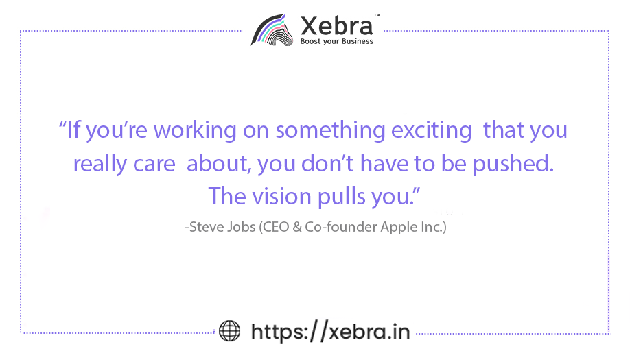 What are you working on today? #MondayMotivation  . . #Xebra #BusinessKiBaat #BoostYourBusiness #motivationalquotes #QuoteToLiveBy #quotes #motivational #quoteoftheday #quotesoftheday  #mondayvibes #motivation #inspirationalquote #success #entrepreneur #SteveJobsQuotes #SteveJobs https://t.co/9qd2r06YE7