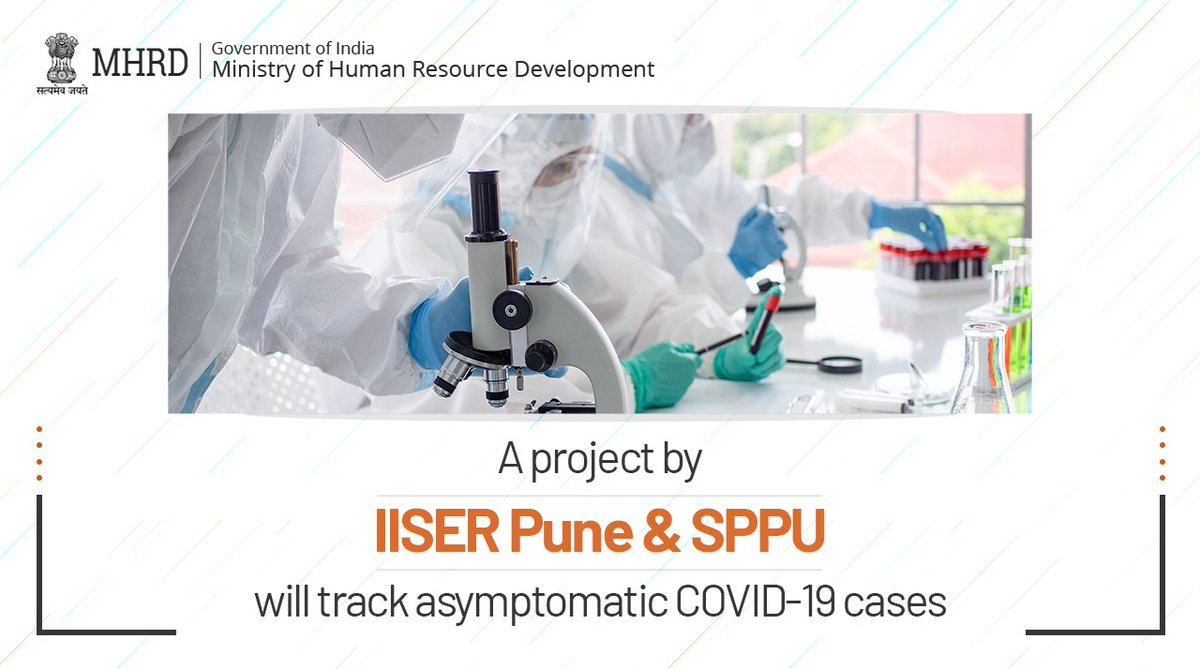 The epidemiological surveillance project that has been jointly undertaken by @IISERPune and SPPU aims to help track asymptomatic cases in Pune. The objective is to halt the spread of #COVID19. Great work, guys👏 Read more: https://t.co/kDQukLImAX https://t.co/BGZINzndqw