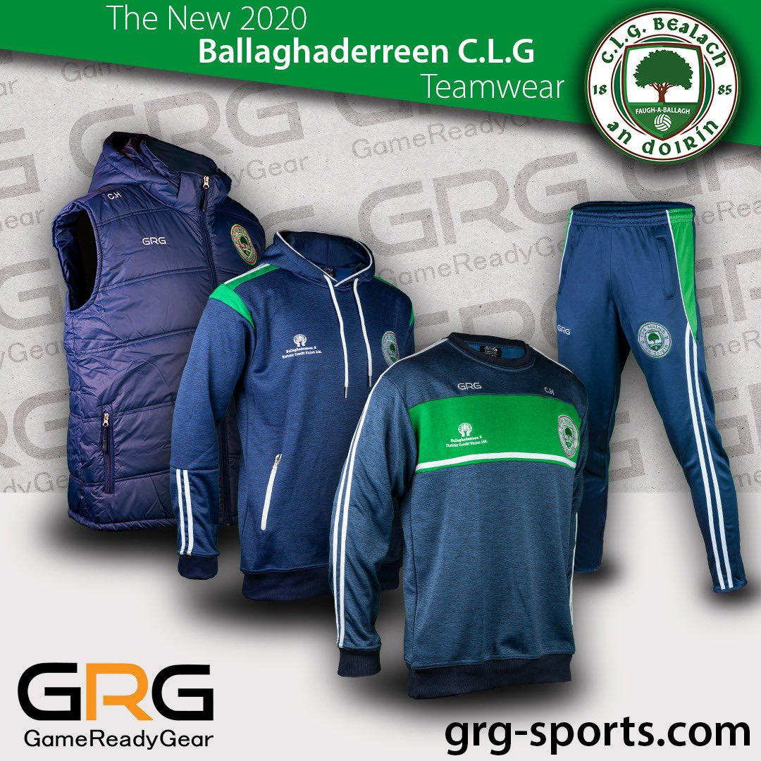 2020 Ballaghaderreen GAA Club Wear.  Delighted to have placed an order for @Ballagh_GAA club players, members & supporters over the weekend!   Ready to kit your sports team and club out today! Taking enquires.  #grgsports #beready #2020sportswear #teamkit #mayogaapic.twitter.com/ccCs1fztqd