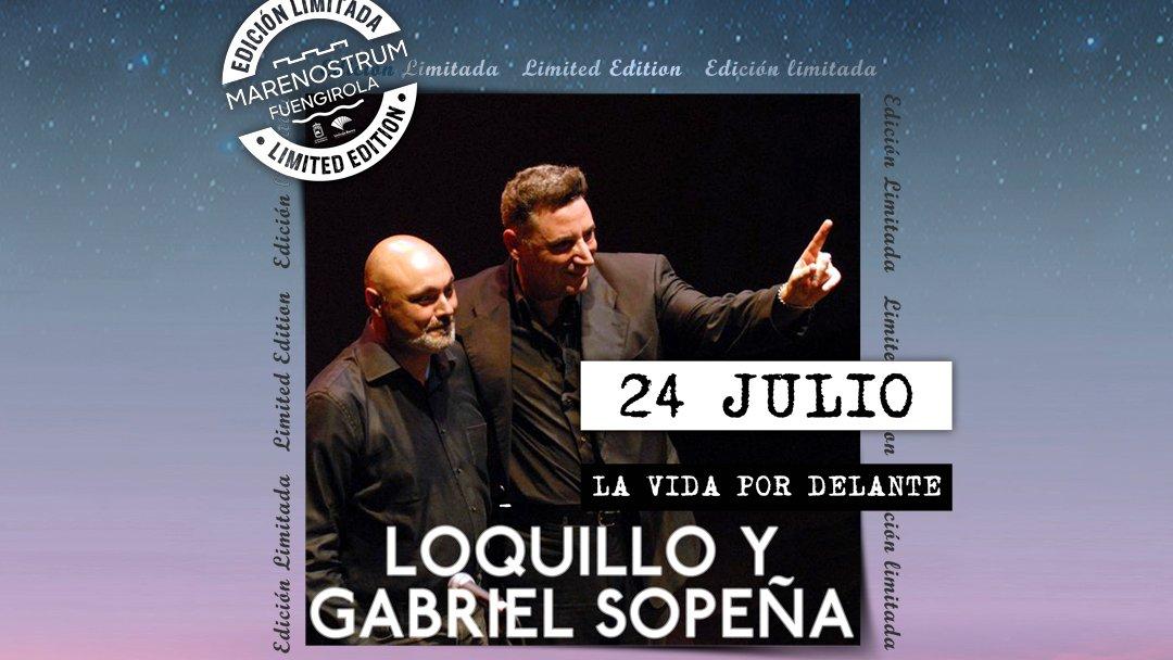 🔥 @LOQUILLOoficial & #GabrielSopeña presentan su nueva gira 'La vida por delante' en #MarenostrumFuengirola #EdicionEspecial‼️ ✅ El concierto se celebrará el 24 de julio, en el #CastillodeSohail, y las entradas ya están a la venta: https://t.co/Jq9Y03VN46 ¡Corre a por ellas! 😁 https://t.co/TyIqVuGHzn