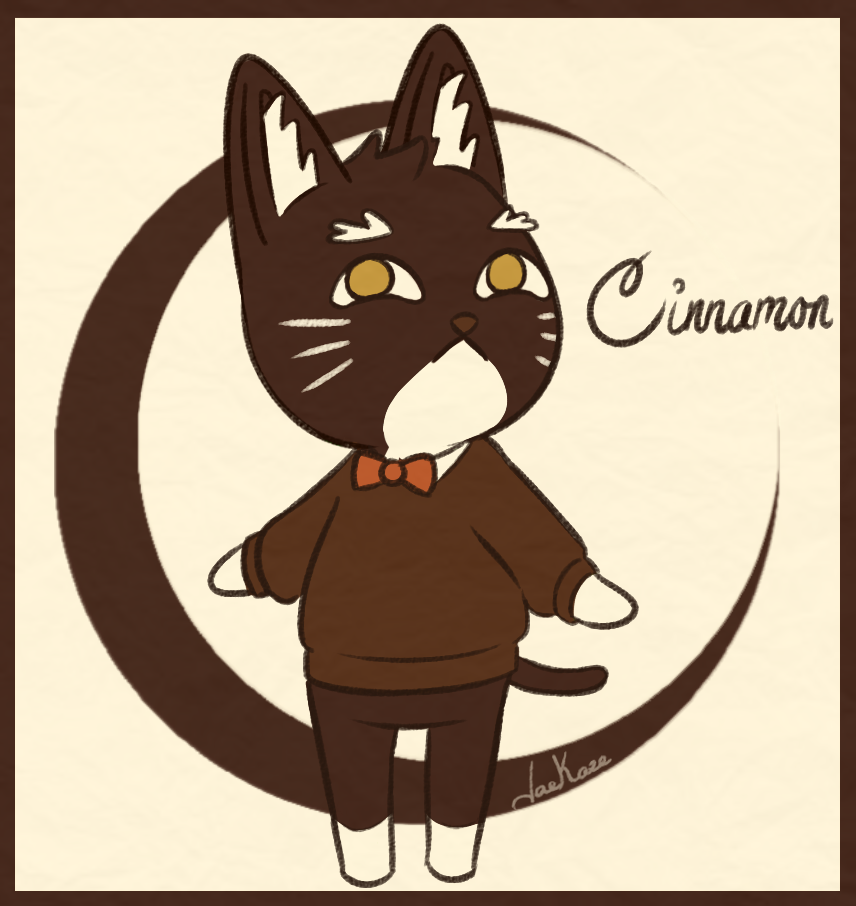 """Getting back into drawing with my """"Cinnamon"""" roll of a cat as an Animal Crossing Villager~  <br>http://pic.twitter.com/JtVAzlr1BS"""