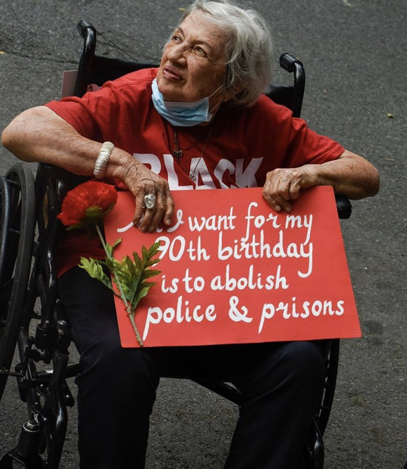 """Anything for a day out.. last year I bet she was on a #StopBrexit march with the slogan """"you stole my future"""" when the criminals freed from prison mug her for her pension, who's she gonna call as there'll be no police  #AllLivesMatter<br>http://pic.twitter.com/L6tSkGXjJ3"""