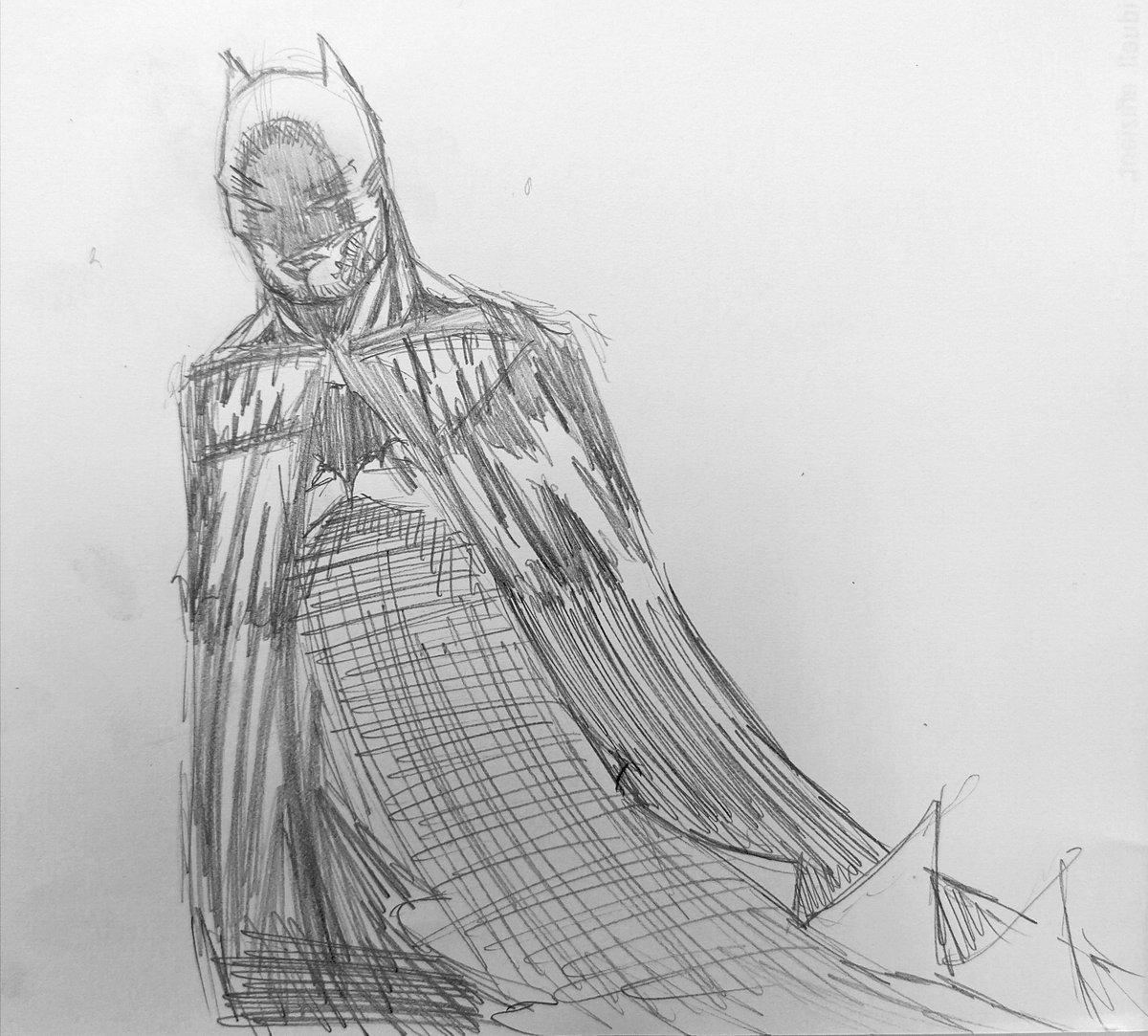 A quick Batman sketch #dc #dccomics #comic #comicbooks #dceu #batman #darkknight #cape #cowl #bat #darkness #fear #batfamily #gotham #justiceleague #art #art_public #art🎨 #drawing #sketch #pencil #pencilsketch #pencilsketches #pencildrawing #comicart #comicsketch #pinup #anatomy https://t.co/kVlZTRHHLo