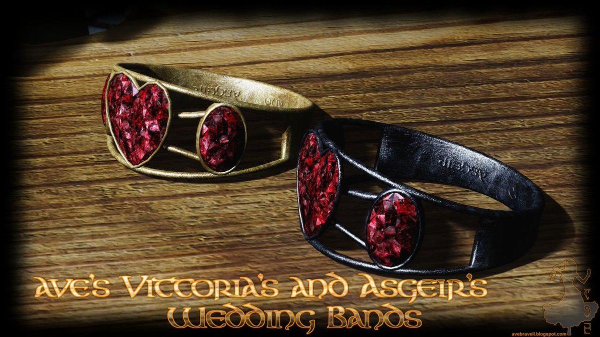 【アクセサリー/Ave's Vittoria's and Asgeir's Wedding Ba…】ヴィットリア・ヴィキとアスゲール・スノーショッドの結婚指輪をリプレイスします。 2つとも同…https://bit.ly/2WereH1  #スカイリム #MOD #Skyrim pic.twitter.com/pqHuo4SnFP