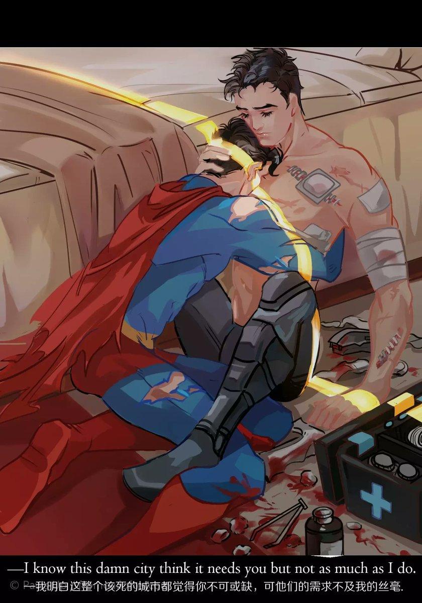 These feel like centuries ago.DC super lovers have their moments of frailty. #Supebat #HalBarry #Arthurm #DC #Fanart #myart https://t.co/oiPySNIILd