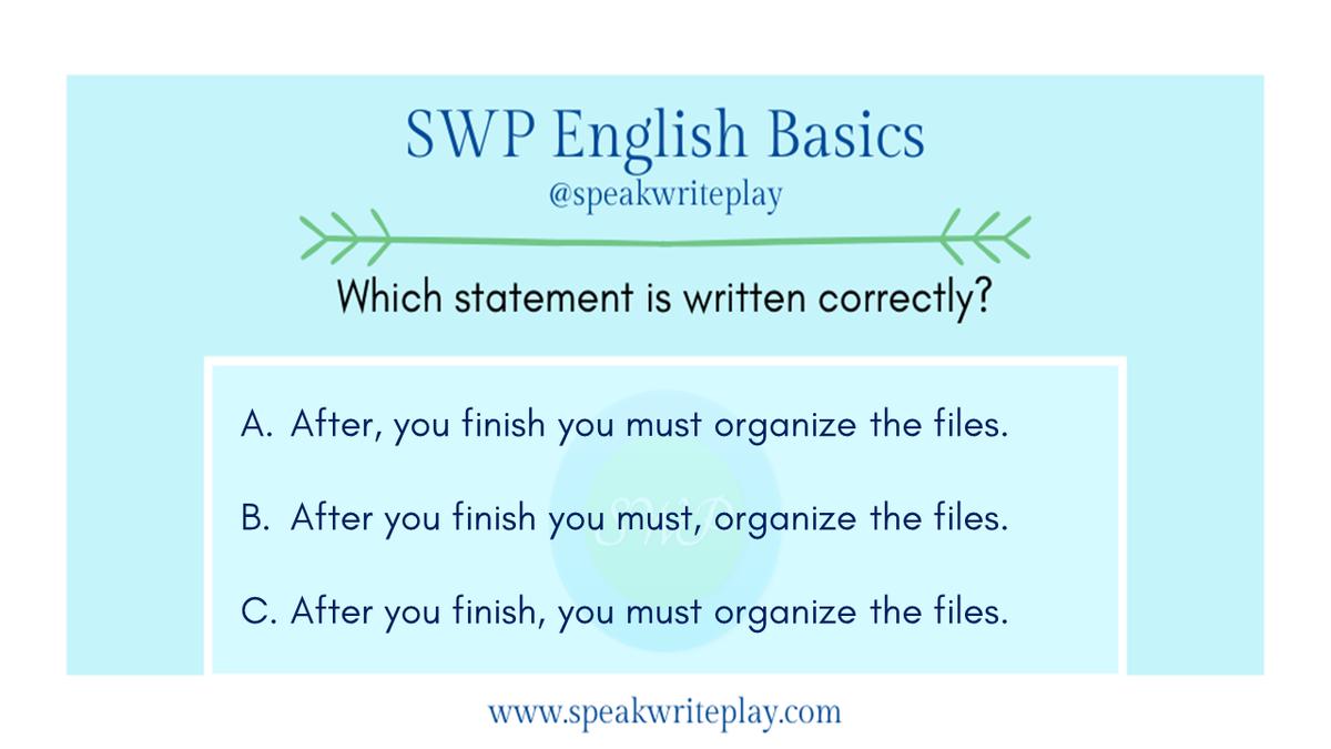 SWP English Basics:  Which statement is written correctly?  #englishtips #LearnEnglish #inggris #vocabulary #writing #SWPinEnglish #MondayThoughts #English #grammar #englishlanguage https://t.co/3yjTlYFe1o