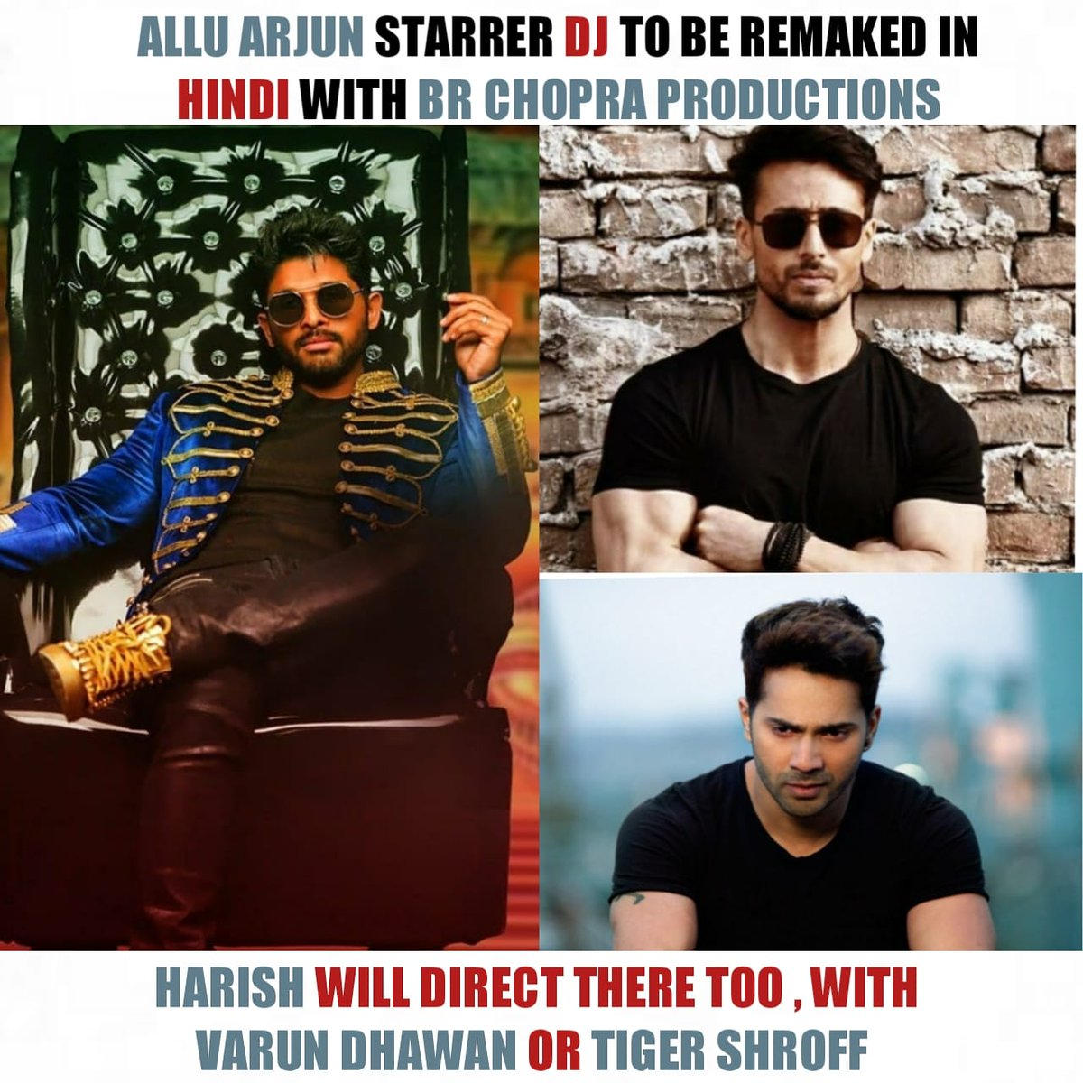 BUZZ 💥💥 @alluarjun @Varun_dvn @iTIGERSHROFF #AlluArjun #VarunDhawan #TigerShroff #DJ #DjinHindi  #CineAspect #3YearsForDJSensation https://t.co/95M5xjgMNu