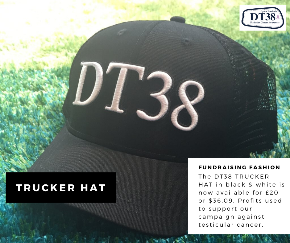 Hell yeh! The coolest cap for the coolest people 😎  The DT38 Trucker Hat is available now. Look amazing & support our ongoing campaign to #raiseawareness of #testicularcancer at the same time 🙌  https://t.co/GbX8vZZcqk  #DT38UK #DT38Aus #Charity #SelfChecking https://t.co/3yl2XSgWRF