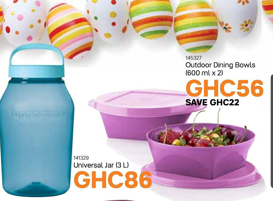 Tupperware Ghana On Twitter Store And Serve With The Universal Jar And Outdoor Dinning Bowl Set Perfect For Home Storage Picnics Or Office Tupperlove Home Storage Officefood Office Picnic Ghanagirls Ghanamen Ghanaladies