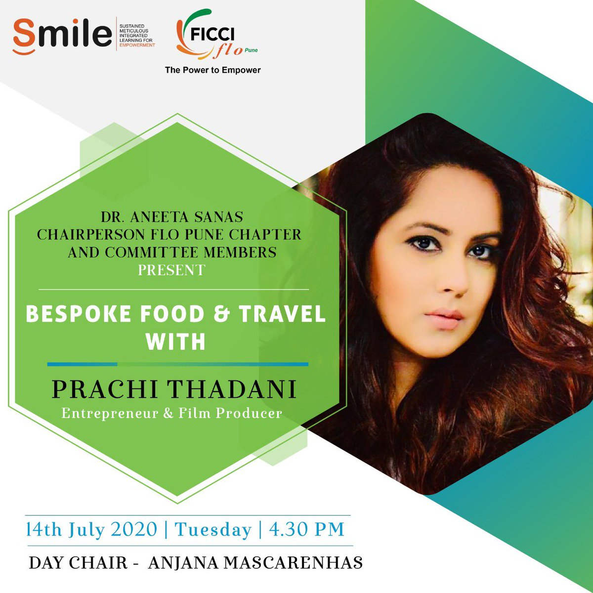 An #Entrepreneur & a #FilmProducer turned chef with her new venture of homemade food http://delivery-eat.play.love.food, #PrachiThadani will be in a LIVE conversation with us. Tune in on our Facebook page for this conversation tomorrow at 4.30 PM.  #ficci #ficciflo #ficciflopune #flopunepic.twitter.com/YHfCLlP93b