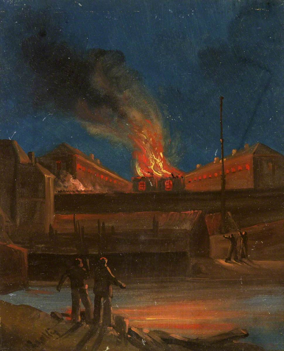 William Walter Wheatley (1811-1885), Bristol Riots: The Goal Burning, c.1831 @bristolmuseumpic.twitter.com/OKKkCWNyz2
