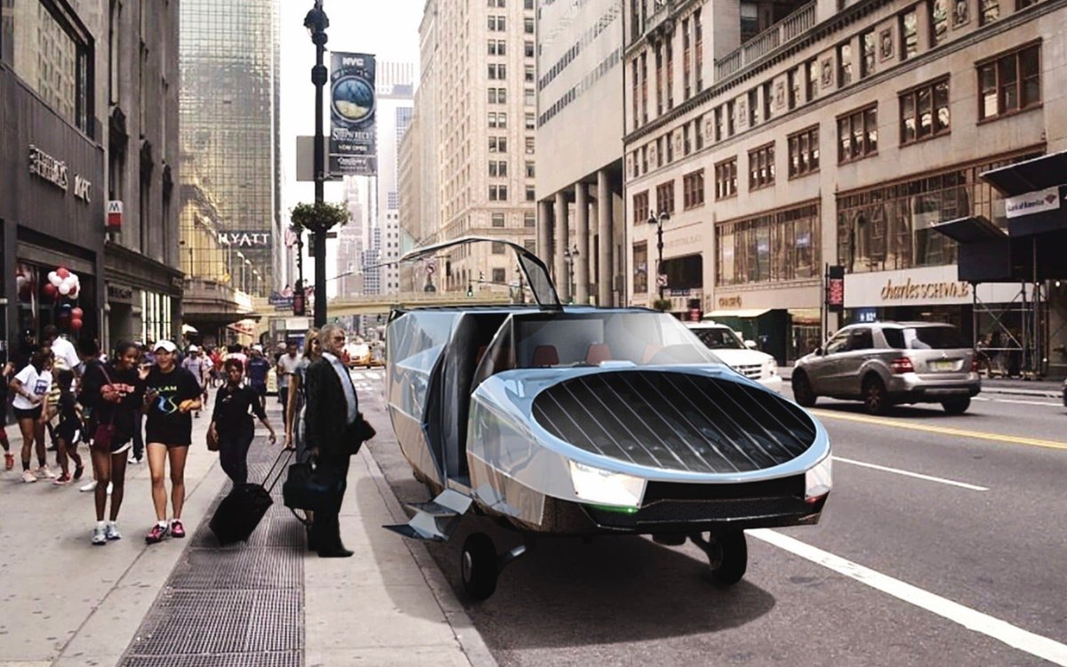 Life under #COVID19 makes us sometimes feel like we're in a #scifi movie where only flying cars are missing.  Missing?  👇 #Israeli company Urban Aeronautics created the City Hawk, a 9 passenger #flyingcar to be used in cities and emergency situations!  📷 @RealUrbanAero https://t.co/AkwvZI7izH