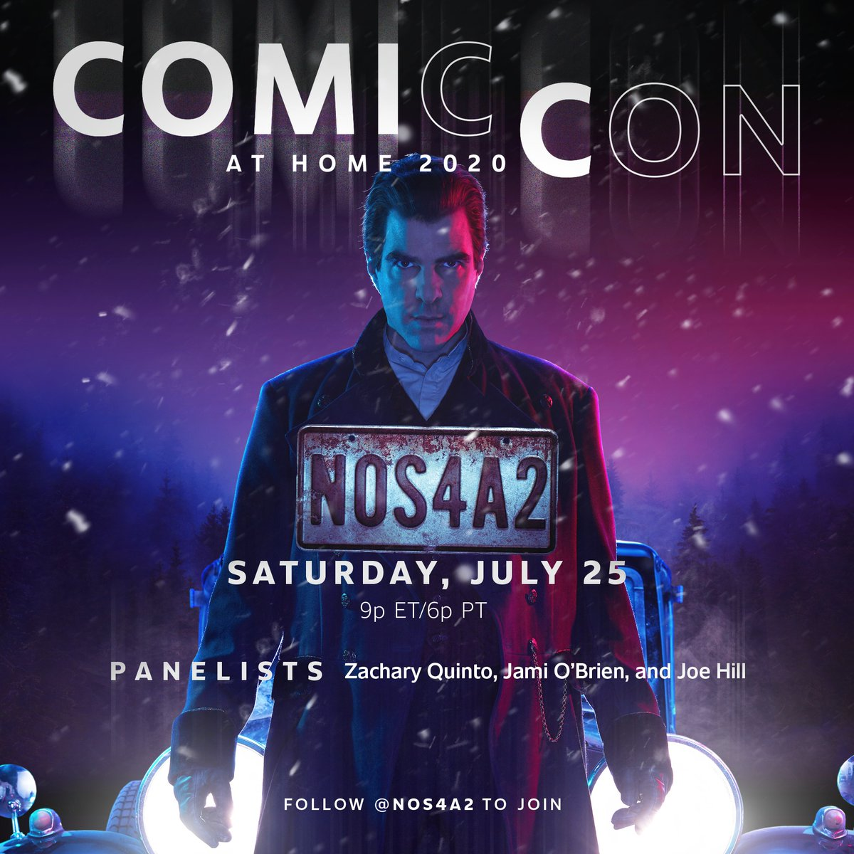 Christmasland in July. Join @zacharyquinto, @jami_obrien, and @joe_hill when they talk season 2 at #SDCC Saturday, July 25th at 6pm PT/9pmET. #ComicConAtHome