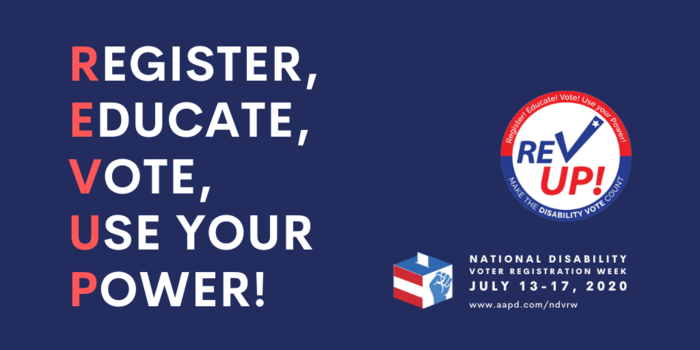 It's National Disability Voter Registration Week! ES&S applauds AAPD's REV UP Campaign's work to increase voter registration and engagement. #NDVRW https://t.co/NEB6VLB1S6