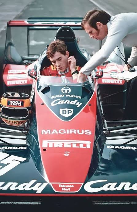 """""""He's the guy, he's brilliant. We've just got to have him.""""  Rory Byrne after Ayrton Senna's first tests with Toleman. https://t.co/ukF5j5fGRO"""