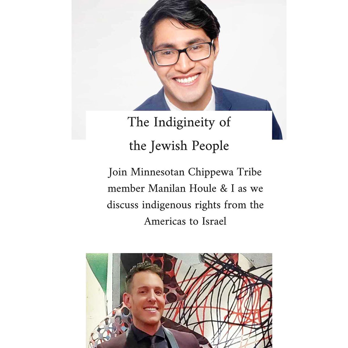 Join @ShaiDeLuca and I tomorrow at 10ET to discuss indigenous stories here in the Americas and in Israel, where Jews have maintained a connection and presence for thousands of years. How do we discuss history and embrace our indigineity when so many seek to erase it?