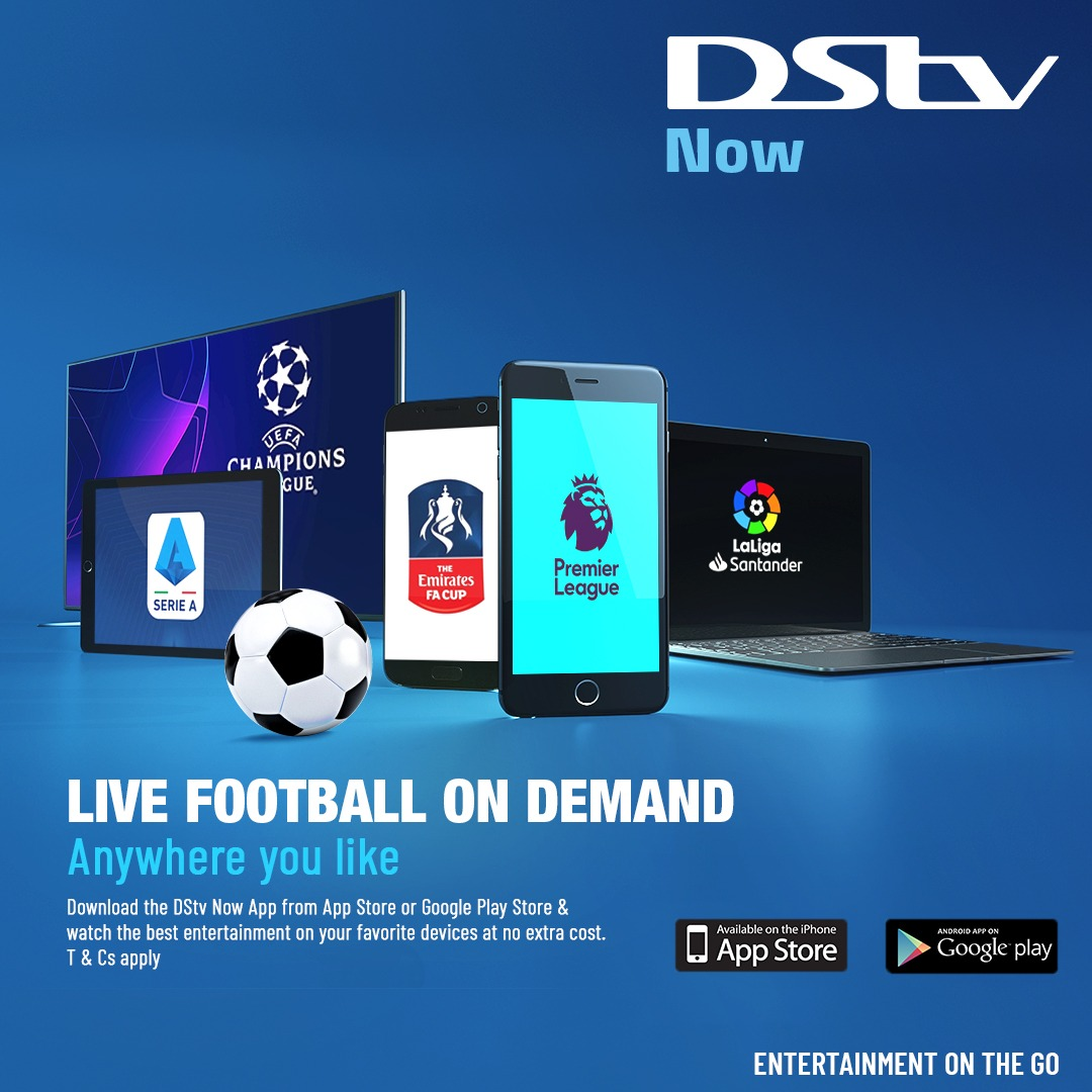 The #UCL action resumes soon. The race for #PL Top Four gets more intense. The #FACup, #SkyBetChampionship, #LaLiga, #SerieA, are still ongoing. Have you downloaded the #DStvNow app? Go to Google Play Store or App Store and get DStv Now today and don't miss any action on DStv!📱 https://t.co/uWGrF2d9wR