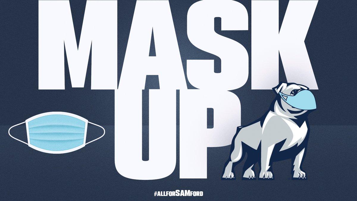 Bulldogs protect each other!  #WearAMask #AllForSAMford https://t.co/sVEvzIYZw1