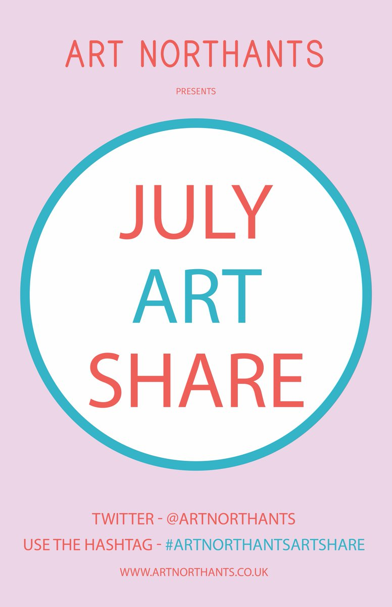 Our LAST #artshare is Monday 27th July at 7.00pm Tweet 1 photo of your work using #artnorthantsartshare Join us on the 27th to see some great art! https://bit.ly/3ctN3HV  #NORTHAMPTONSHIRE #NorthantsTogether #art #Northampton #artist #northantshour #Northants #ArtistOnTwitter pic.twitter.com/q2O6ctHzaH