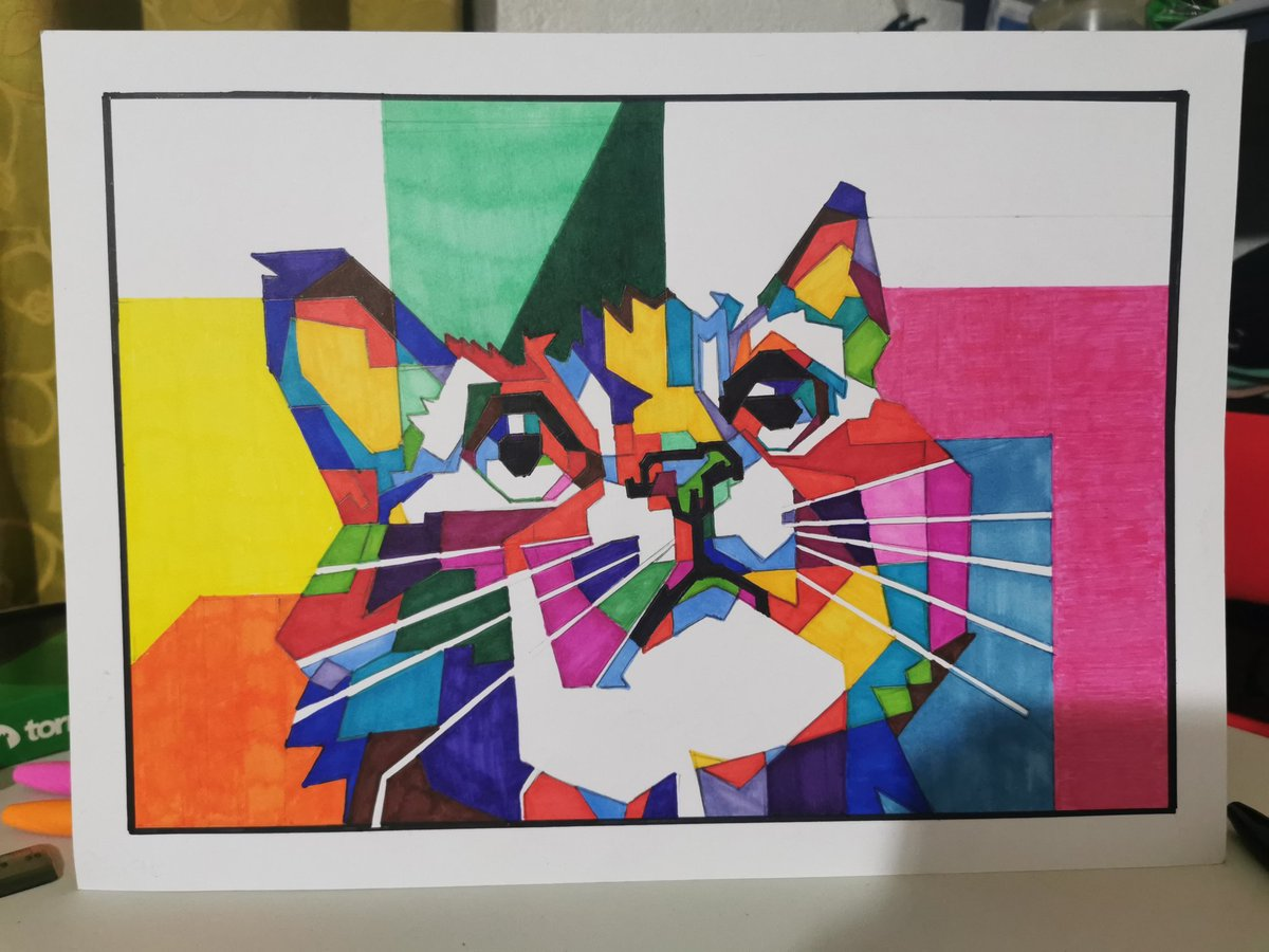 Uno de mis dibujos al estilo de wpap de este gato.  #arte #ArtistOnTwitter #wpap #gato #cat #ArteYArt #ilustracion #ilustração #sketch #sketchbook #talca #twitterpic.twitter.com/MhiAIHoPN3