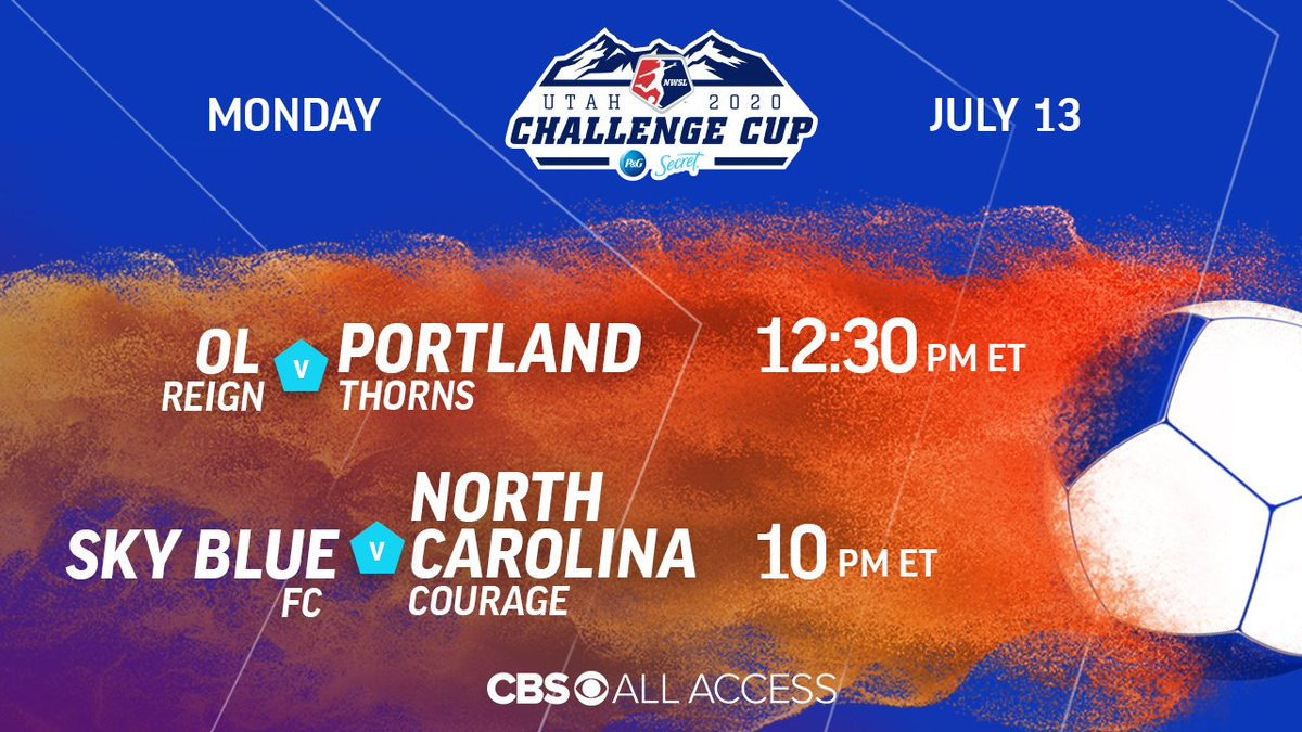More @NWSL coming your way today on @CBSAllAccess  ➡️   12:30 | @OLReign vs. @ThornsFC  10 | @SkyBlueFC vs. @TheNCCourage
