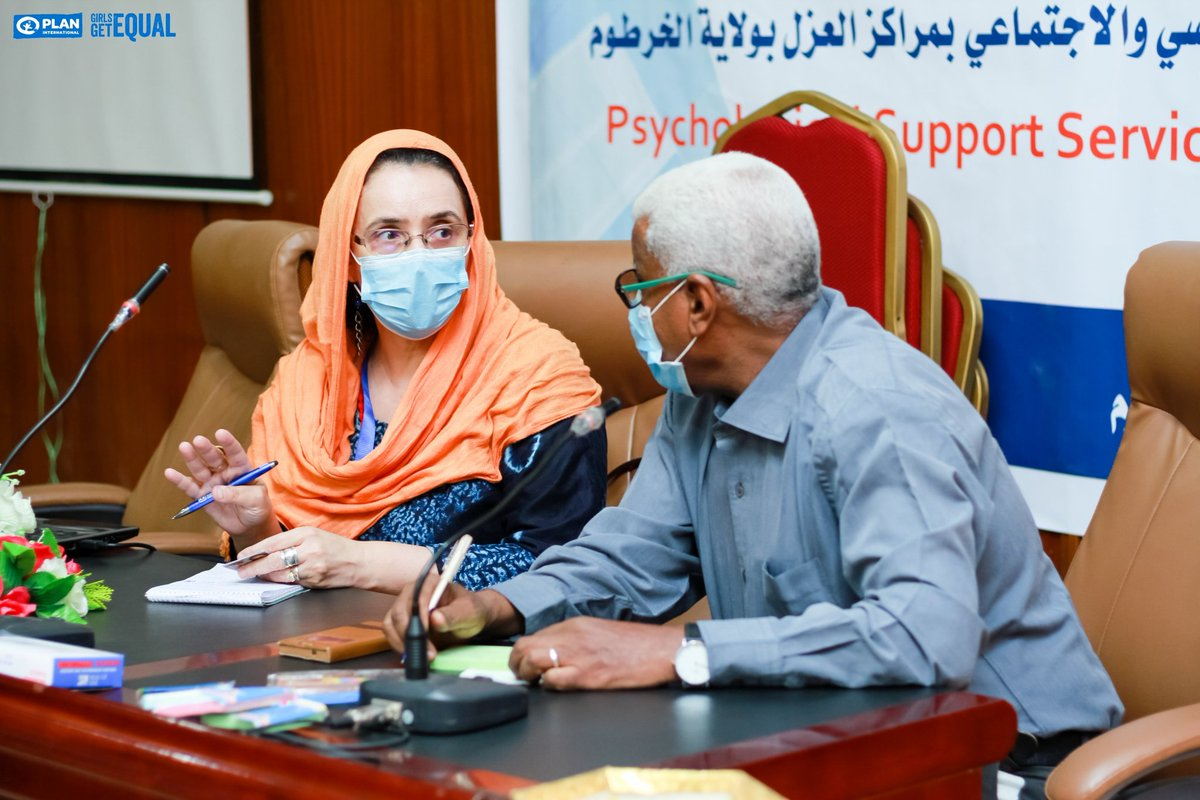 Consultation before opening 3-day workshop for #socialworkers on #psychological support #services in partnership with #Khartoum State #MinistryofHealth. Absolutely essential part of #emergency #Covid_19 response in #Sudan. Respecting prevention measures. @PlanGlobal @PlanMEESA https://t.co/eoeZBhS5mq