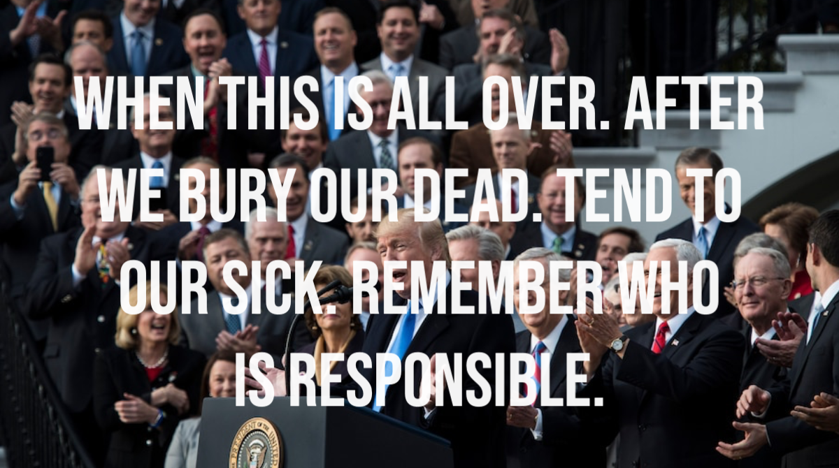 What is happening right now is inexcusable. It's not that they just botched the response to #COVID19, they want to smear anyone who would try to do good. These men and women are cold-blooded, natural born killers. 135,000 dead. It's on them. The @GOP is deadlier than a virus. <br>http://pic.twitter.com/DMQrKb0gQi