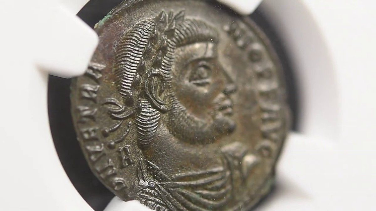 Discover this beautiful ancient follis depicting Vetranio in video:   #Coin #Ancient #Antiquity #RomanEmpire #Collection #Collectibles #Coins #Numismatics #Rare #Inspirational #Collector #Numismatist #History