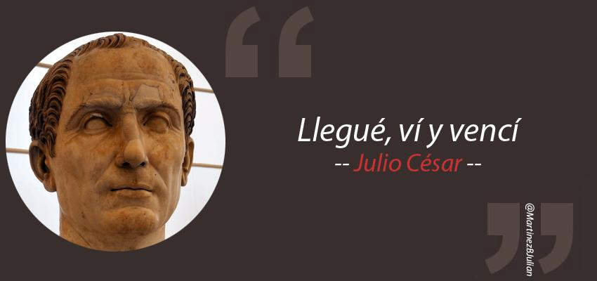 """@RomaAeternaFM #13Jul #TalDíaComoHoy en 100 (AC) nació Julio César """"Llegué, ví y vencí. Vini, vidi, vici"""" https://t.co/KAPwkW7D6k"""