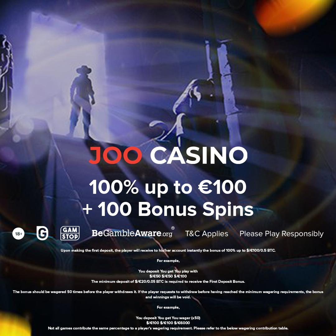Joo Casino has cooked something great for their new players. This welcome bonus includes 100 Bonus Spins to make it super sweet.  Claim it here: https://t.co/1TganEEL6M  #AskGamblers #slots #bestslots #onlinegames #igaming #bonus #bonusoffer #casinobonus #onlinecasino #casino https://t.co/u7gUBl31lL