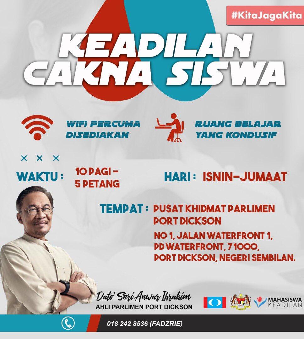 [KEADILAN CAKNA SISWA]  YB Dato Seri Anwar Ibrahim Ahli Parlimen Port Dickson  Bersangkutan dengan Pembelajaran Atas Talian (ODL) yang perlu ditempuhi oleh Mahasiswa/wi seluruh pelusuk negara. https://t.co/xdbeMGdhTh