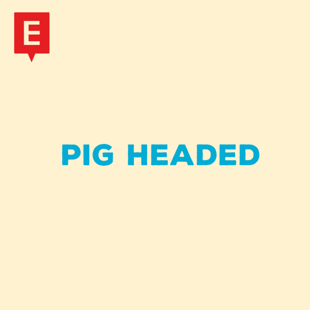 Pig headed = stupidly stubborn. It is an insult. Can you think of a time you might call someone pig headed? #esl  #learnenglish  #englishlikeanative #idioms https://t.co/tUtDE9nUfx