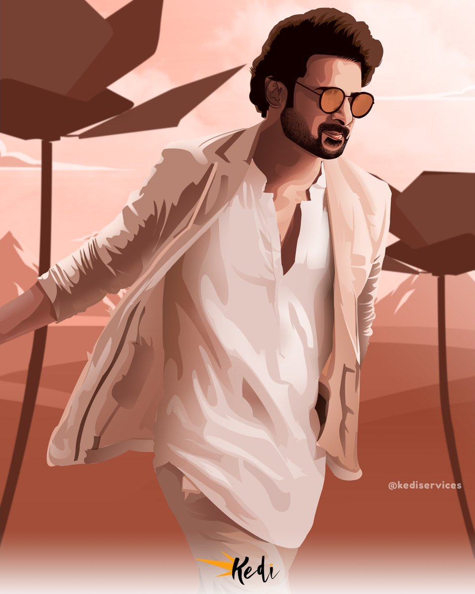 Darling Prabhas VECTOR ART Contact us for more details Ph- 9121354445 Mail I'd - kediservices007@gmail.com Follow us on Instagram @kediservices  ⚡Short time delivery. ⚡ Quality work guaranteed  #grainedephotographe #pixelstretch #PicOfTheDay #photooftheday #Sahoo #Prabhas 😍