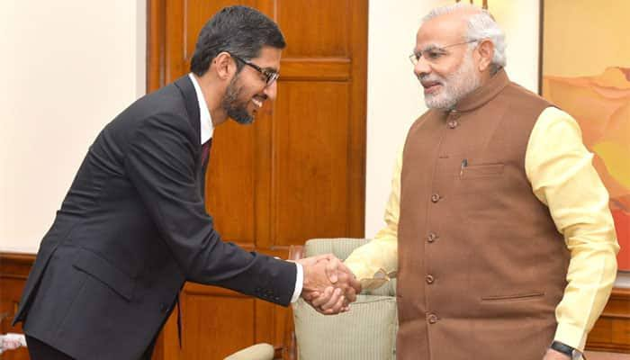 Google is a Word which Changed the World  @sundarpichai CEO of Google,  Today unveiled Google for India Digitization Fund through which the which the company will be making the investments of $10 billion in the INDIA.  #GoogleForIndia<br>http://pic.twitter.com/xk16nC5vbO