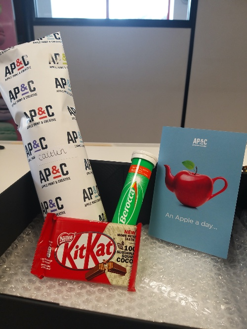 Surely you didn't think the Return to Work and Welcome Back Packs  were just for you all! @KITKAT @Nestle @berocca - for all the essentials!  #safetyfirst #returntowork #welcomebackpack #teamworkmakesthedreamworkpic.twitter.com/28oY4fZgCA