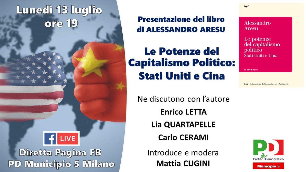 """""""Il mondo della globalizzazione non è piatto. È una macchina di conflitti."""" Oggi alle 19 @alearesu discute del suo nuovo libro """"Le potenze del capitalismo politico"""". Con @EnricoLetta, @LiaQuartapelle, Carlo Cerami, Mattia Cugini. In diretta su FB: https://t.co/fIFIpJvO96 https://t.co/OkDaR8zPIq"""