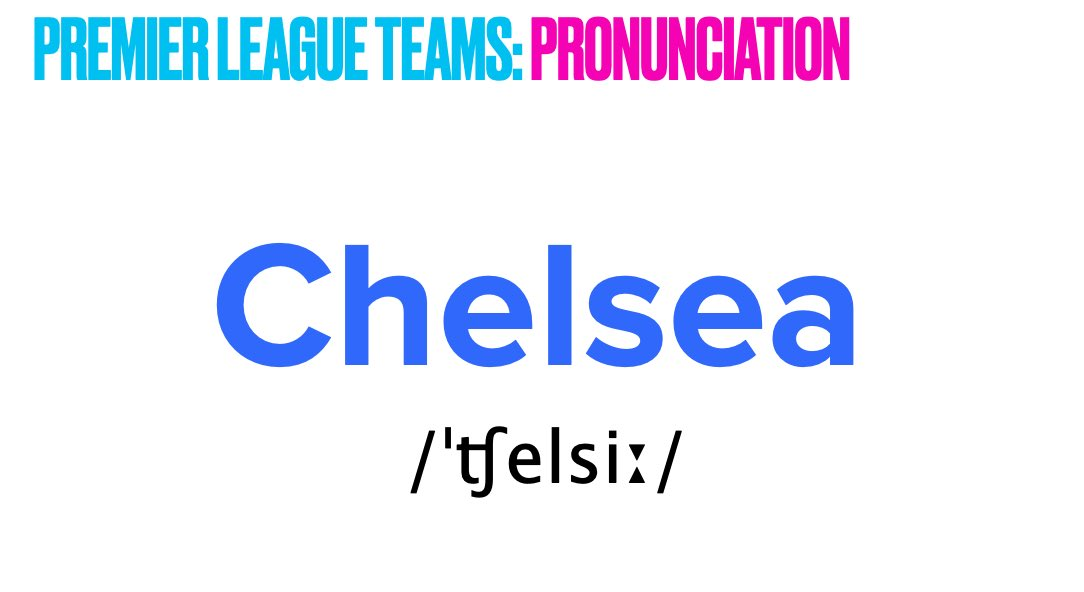 @ChelseaFC @premierleague Do you want to learn more about English pronunciation? Do you love football? Learn pronunciation with football! https://t.co/KE1HBYhFlU  #Chelsea #CFC #FootballEnglish #LearnEnglish #Englishpronunciation #Englishthroughsoccer #Englishthroughfootball https://t.co/e7joU1qzyJ