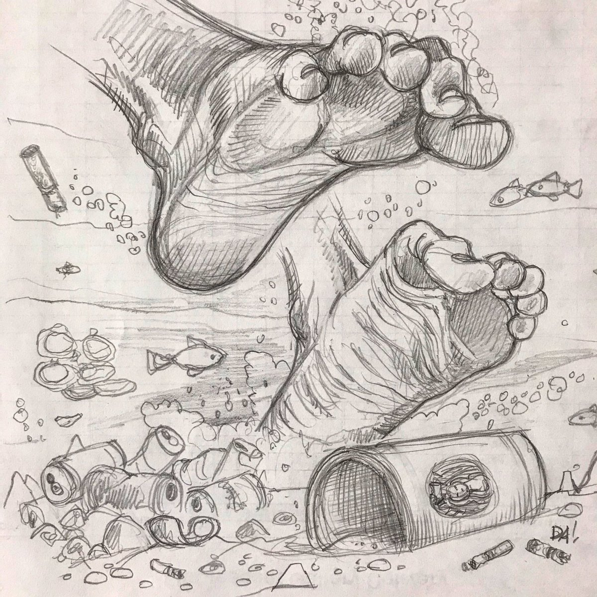LakeLife. #pickupyourtrash #lakelife #lakelitter #lakewater #recycle #summertime #barefoot #sketch #drawing #Illustrator #conservation #environmentalist #artist #michigan #puremichigan #parabolastar https://t.co/A7np16YxSE