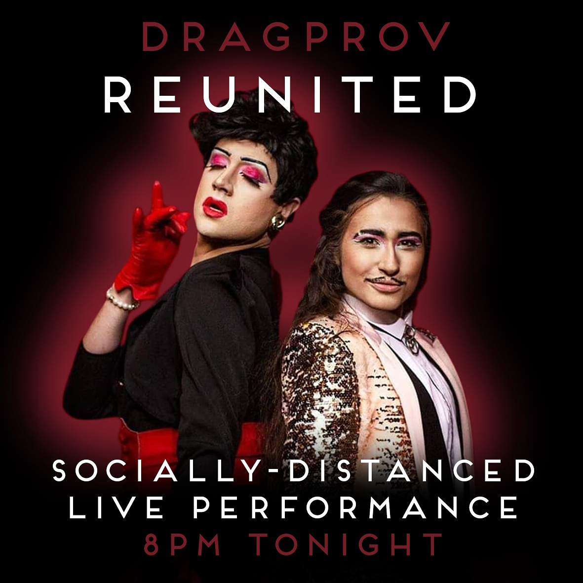 DRAGPROV ARE DRAGPROV-ING TOGETHER TONIGHT @8PM for the first time in months. Join us on Insta Live for the most JOYOUS reunion ever. And don't worry folkx, we've shielded, socially distanced, & taken ALL the measures to make sure we won't give each other cooties #PRIDE2020<br>http://pic.twitter.com/r9KsOC6JEH
