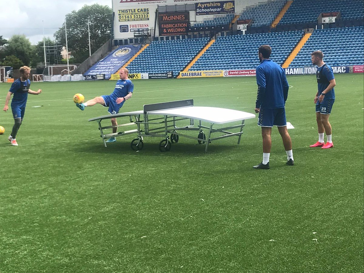 """Big thank-you to @KillieTrust who we worked closely with to securing 2 new """"Teqball"""" tables. This will be a fantastic piece of equipment for @KilmarnockFC fanzone, as well as touring the community with it. It brings fun and laughter to all! #WeAreKillie pic.twitter.com/wuA6JRGksH"""