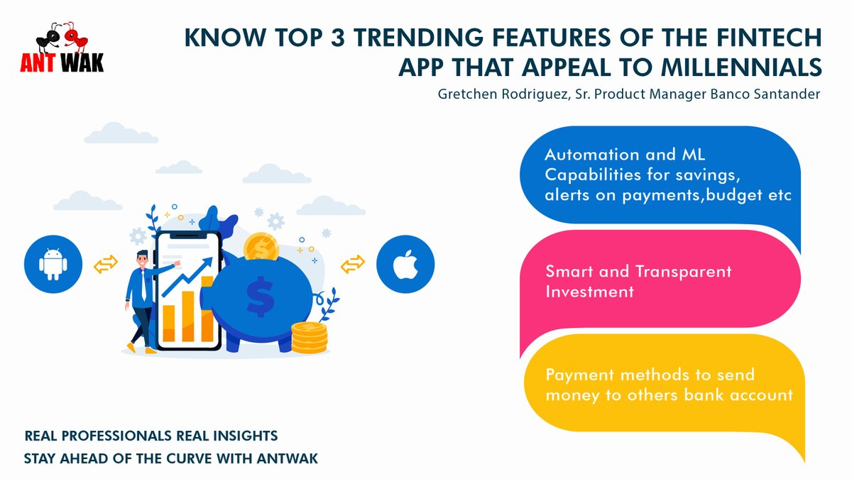 """""""Millennials are tech-savvy and wishes to use a product with diverse features""""  Hear our expert views on features of the Fintech App.  Check out our video https:// bit.ly/2ZnbBiv      Let us know which feature excites you more. #ProductManagement #Millennials<br>http://pic.twitter.com/5oUtAPqQ1u"""