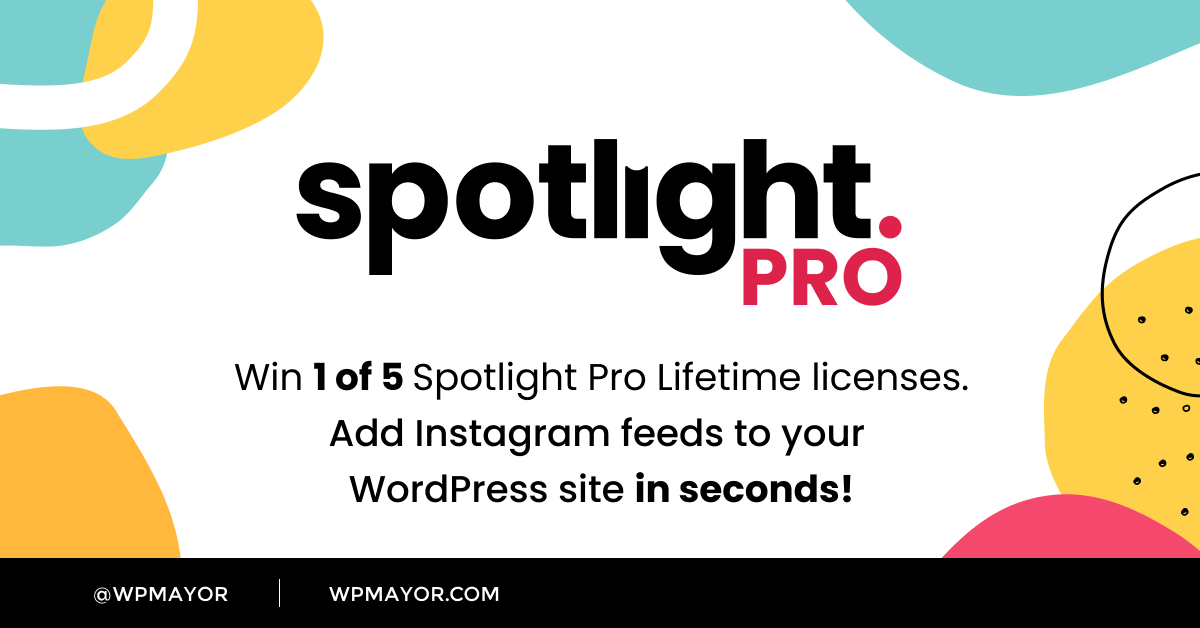 test Twitter Media - 📢 $1000 Giveaway! WIN 1 of 5 lifetime licenses for @spotlight_wp Instagram Feeds PRO. Spotlight is celebrating the launch of its PRO version with this special giveaway just for @wpmayor readers. Enter to win: https://t.co/zasguV2W0I #giveaway #contest #WordPress #Instagram https://t.co/LUD3hmq7Sh