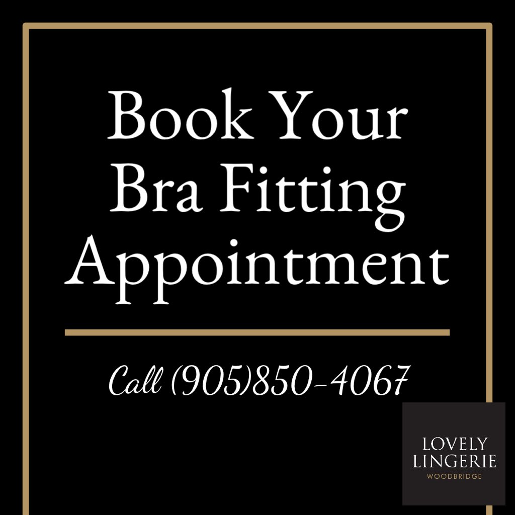 Call (905)850-4067 to schedule your Bra Fitting appointment. ♥️♥️♥️ #Book #Your #Appointment #9058504067 #LovelyLingerie #Woodbridge #Vaughan #Toronto #We #Are #Certified #Bra #Fitting #Mastectomy #Swimwear #Specialists #Serving #Community #ShopLocal #Twitter