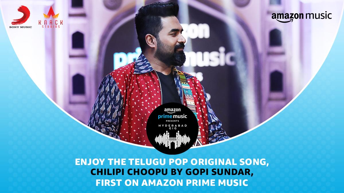 Telugu Pop at it's best🎸 Enjoy @GopiSundarOffl's melodious song, #ChilipiChoopu from #AmazonMusicHyderabadGig  Stream here 👇 📹  🎧 #FirstOn @AmazonMusicIN