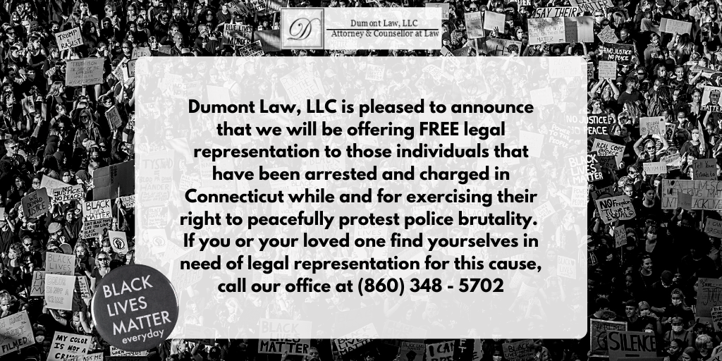 If you are about fighting within the struggle here in Connecticut and encounter trouble, it would be our honor to help. #ctprotest #BLM #protests2020 #connecticutprotest #NoJusticeNoPeace #CTattorneypic.twitter.com/Aiij1mlb48