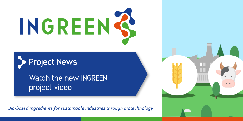 The INGREEN project is helping the paper and agro-food industry to become more #sustainable. Watch the new  video presenting the project goals in an engaging, visual way https://bit.ly/2Wfcesr #biotechnology #biobased #byproducts #H2020 @ActivatecLtd @smurfitkappa @barillagrouppic.twitter.com/tvC2HPAxtY