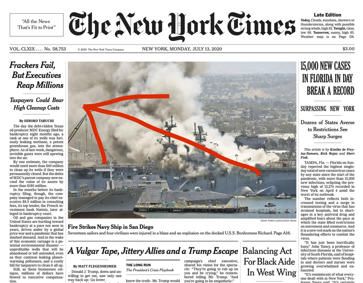 """They're sitting there and they're leaking.""  Important climate news atop the NYT front page this morning.  By @HirokoTabuchi https://t.co/wLpwPM0ls6 https://t.co/MStcg5nGHT"